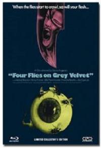 Vier Fliegen auf grauem Samt Cover B